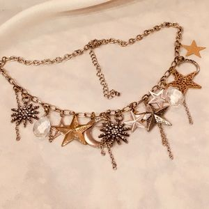 MYSTICAL MOON & STARS NECKLACE TORRID